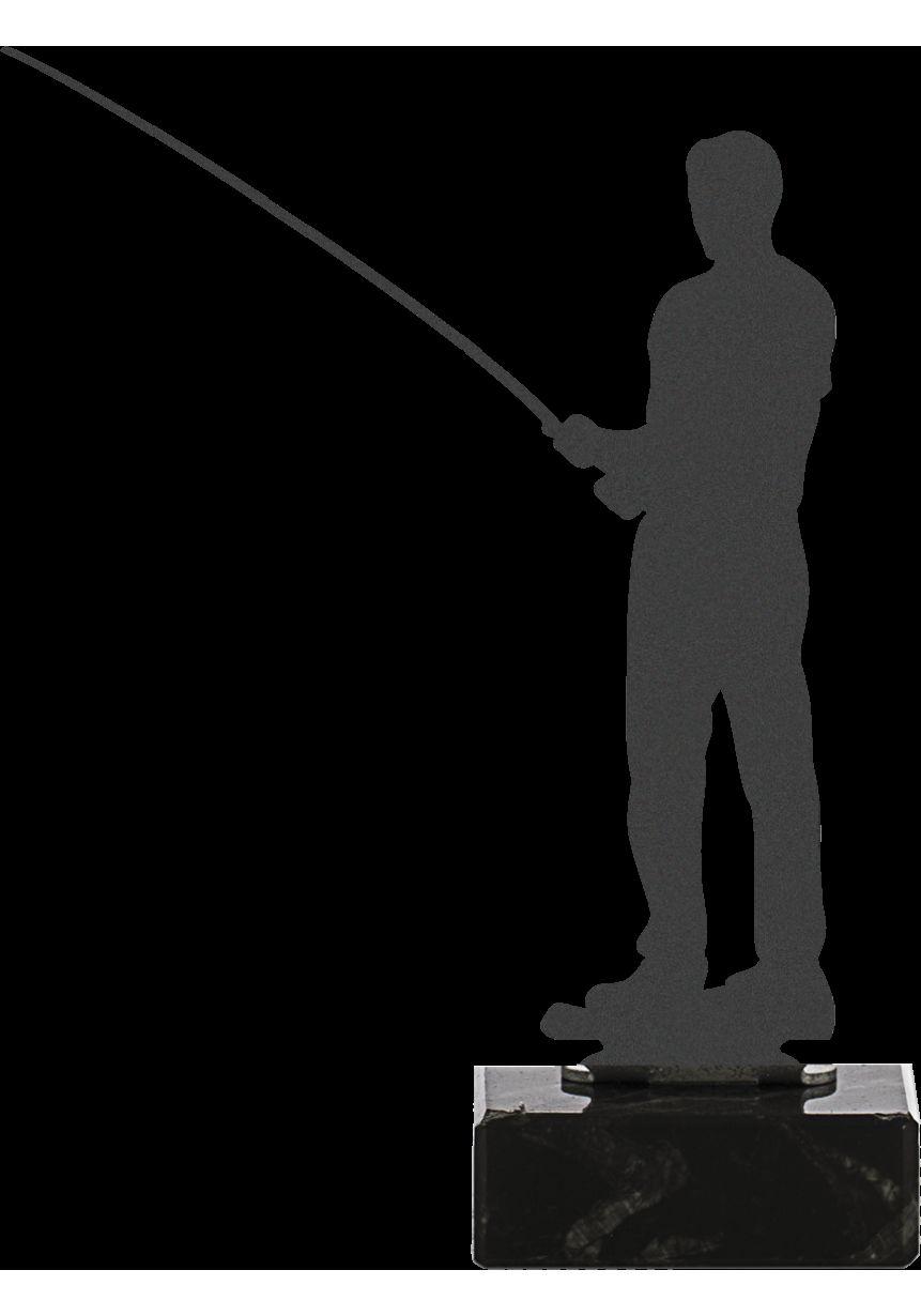 Trofeo de Pesca realizado en metal