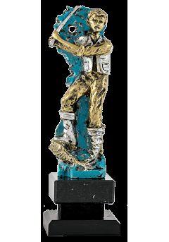 trofeo de pesca realizado en metal 12