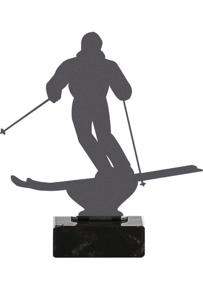 Trofeo de Esquí realizado en metal
