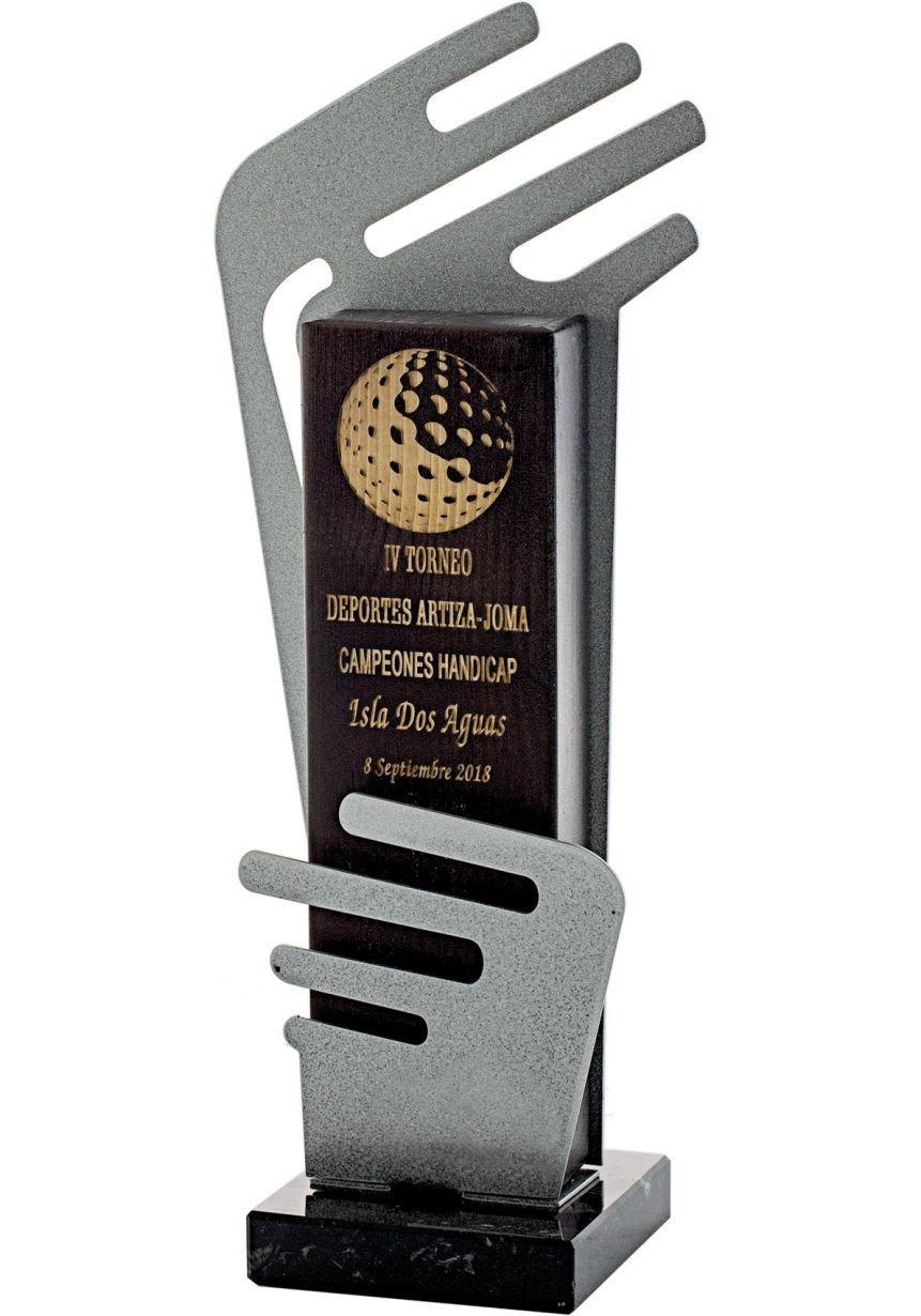 Trofeo madera metal/madera Abstracto