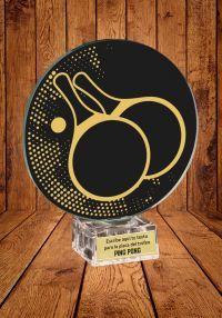 Trofeo de cristal para Ping Pong