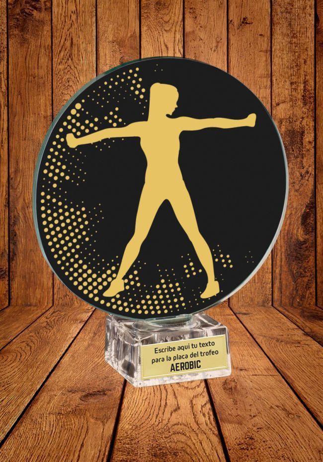 Trofeo de cristal para Aerobic