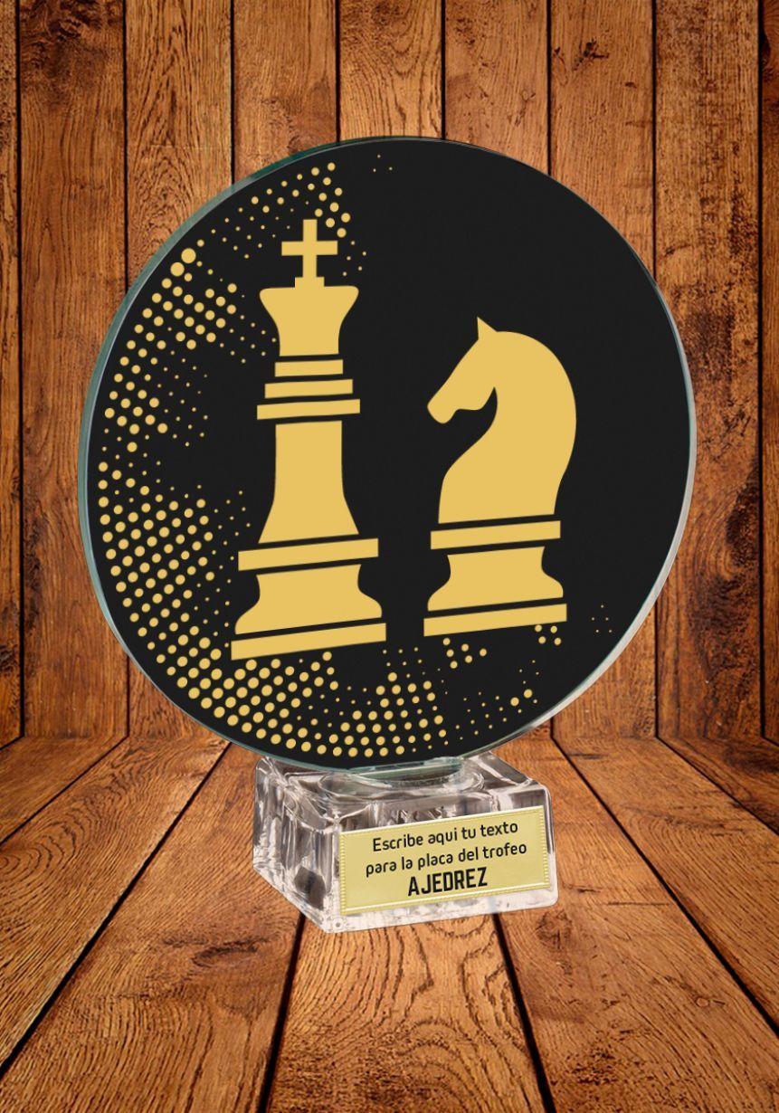 Trofeo de cristal para Ajedrez
