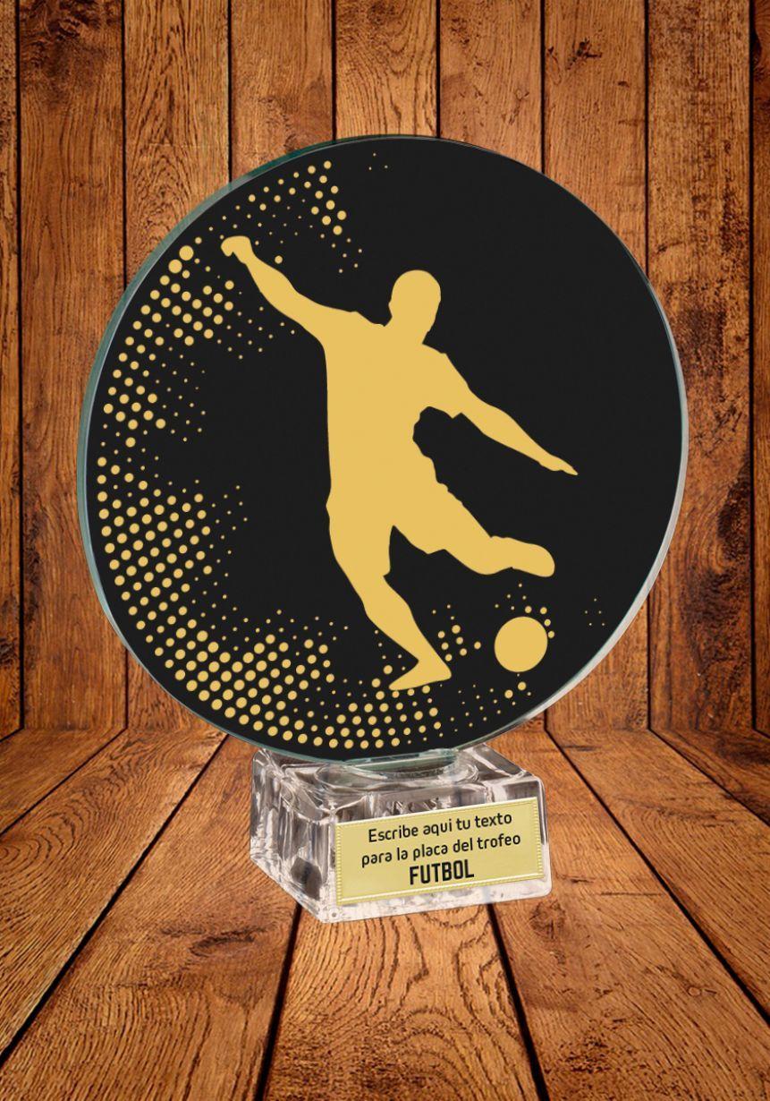 Trofeo de cristal para Fútbol