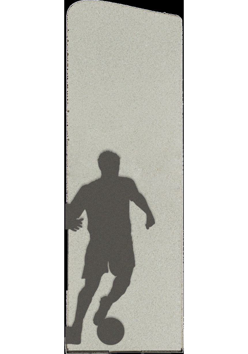 Silhouette Trophy Football Métal Argent