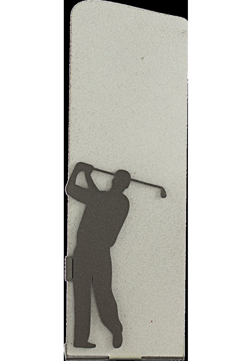 Trofeo Metal Plata Silueta Golf