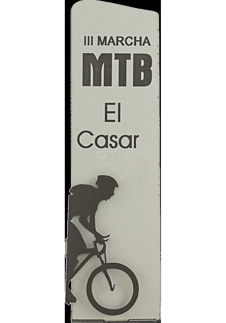 Trofeo Metal Plata Silueta Ciclismo