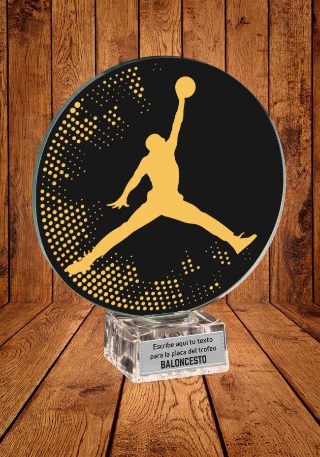 Trofeo de cristal de Jugador Baloncesto