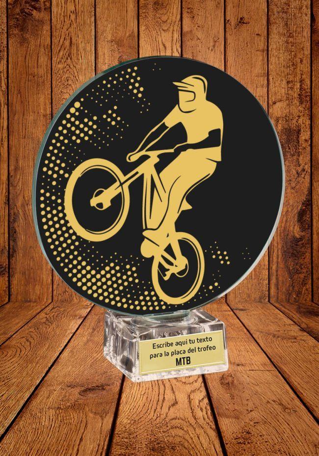 Trofeo de cristal para MTB