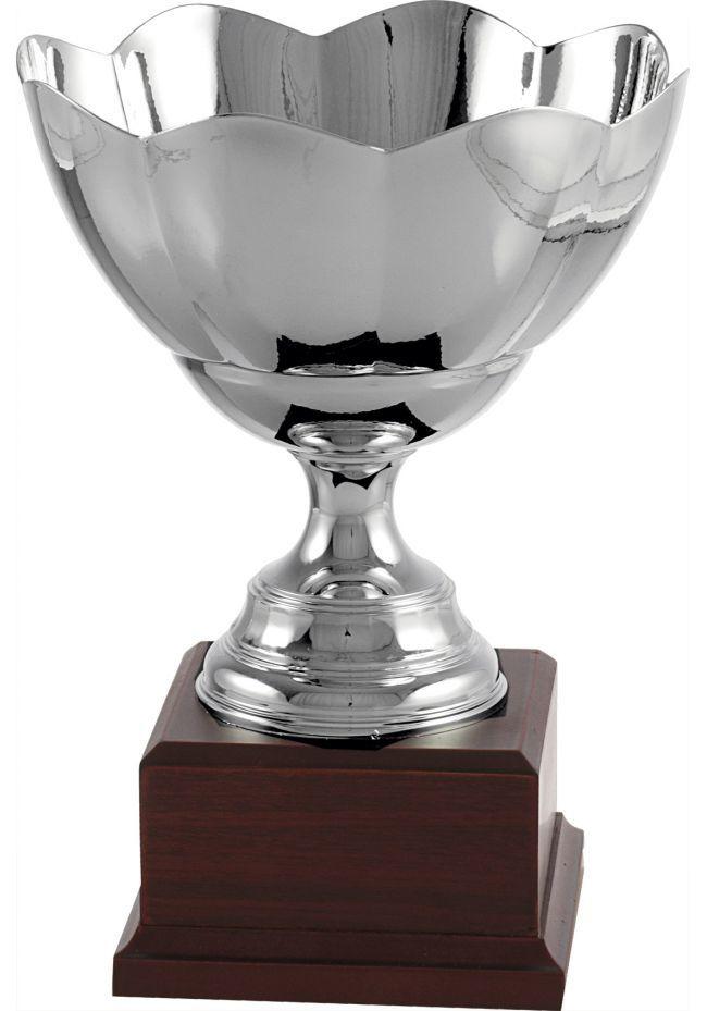 Trofeo copa ensaladera con forma de flor