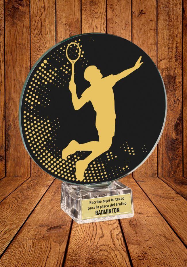 Trofeo de cristal para Bádminton