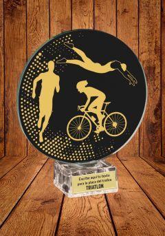 Trofeo de cristal para Triatlón