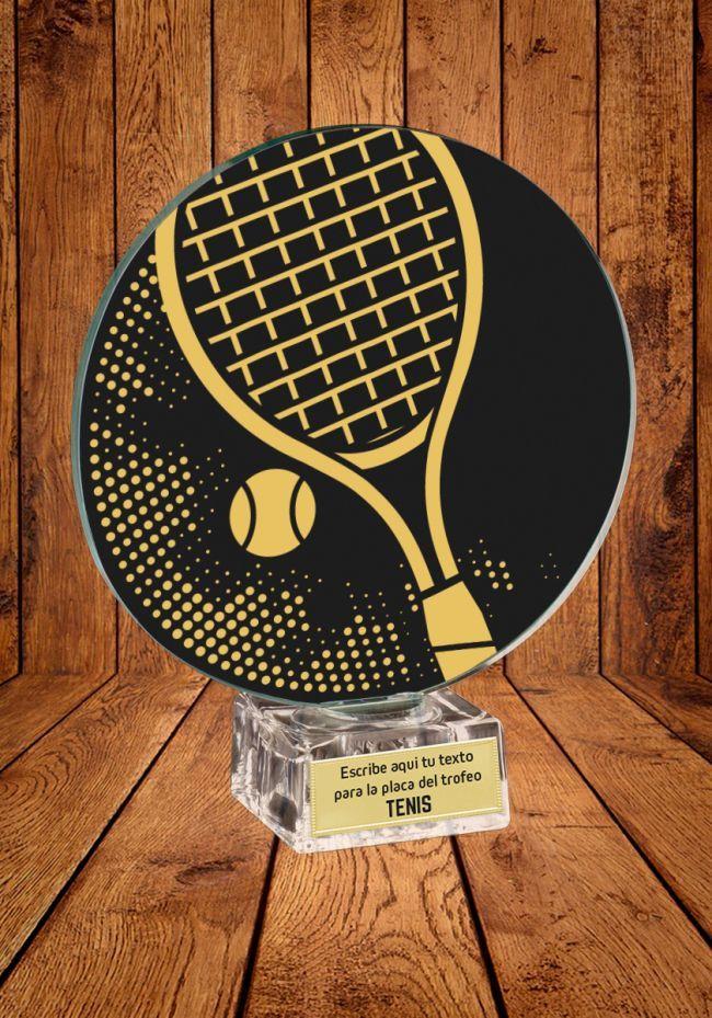 Trofeo de cristal para Tenis