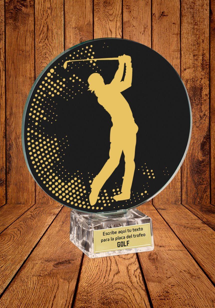 Trofeo de cristal para Golf