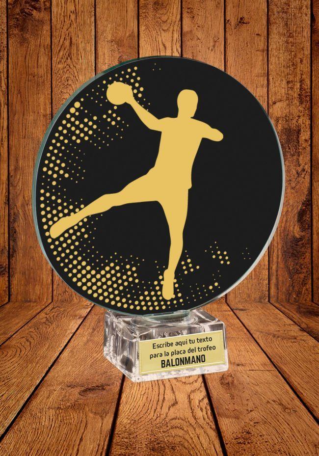 Trofeo de cristal para Balonmano