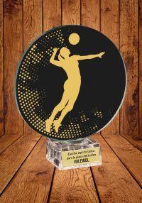Trofeo de cristal para Voleibol femenino