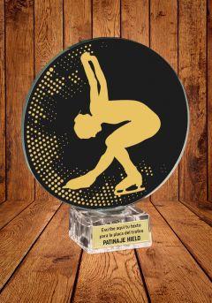 Trofeo de cristal para Patinaje sobre Hielo