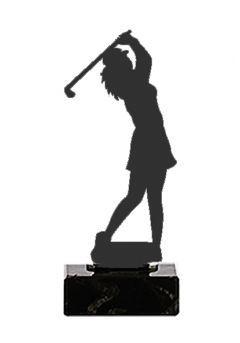 Trofeo de una Golfista realizado en metal
