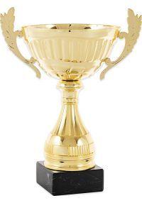 Trofeo copa con asas en dorado