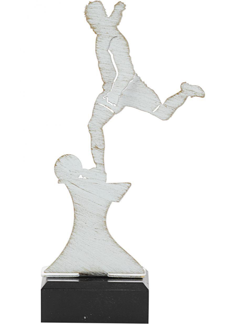 Trofeo de Fútbol  realizado en metal