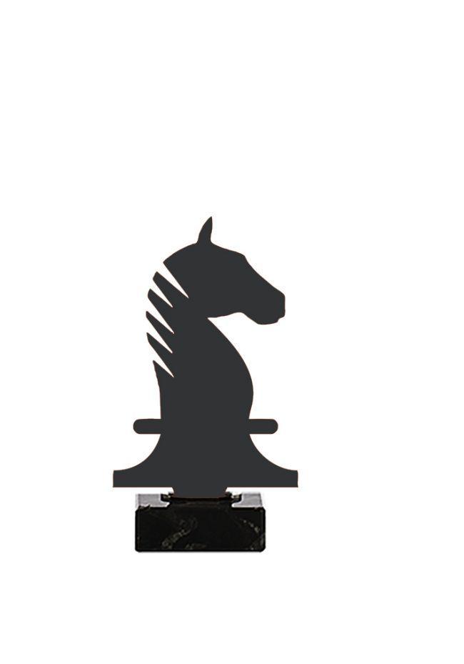 Trofeo de Caballo Ajedrez realizado en metal
