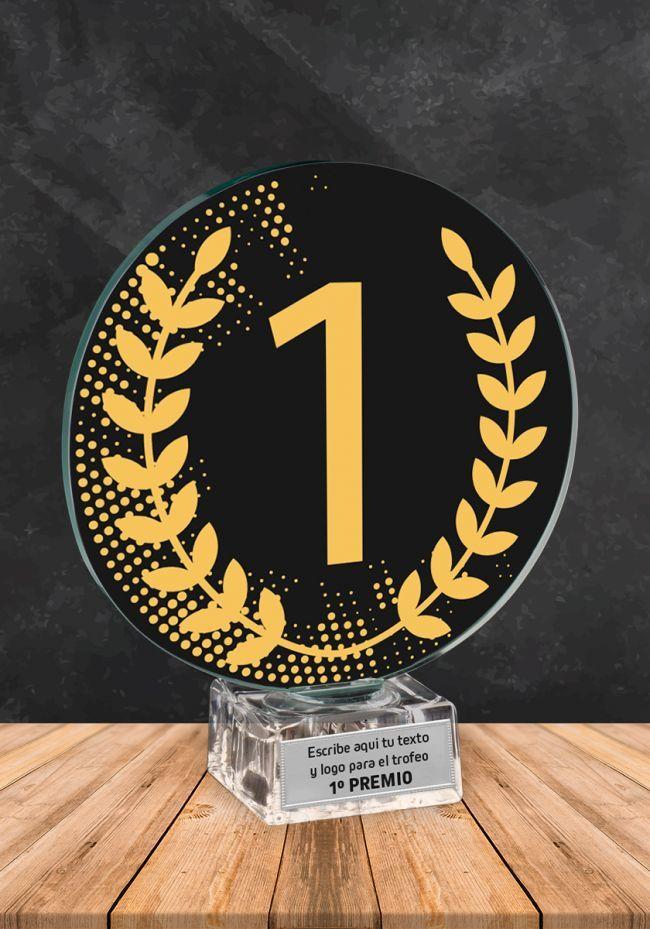 Trofeo de cristal Ganador Numero 1