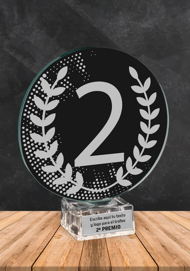 Trofeo de cristal Ganador Numero 2