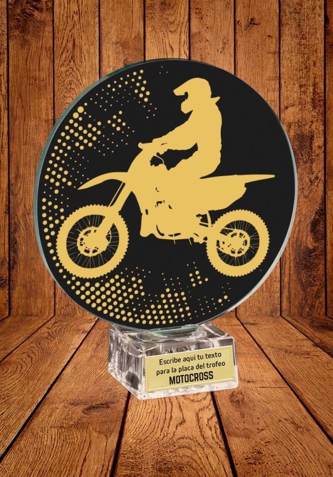 Trofeo de cristal para MotoCross