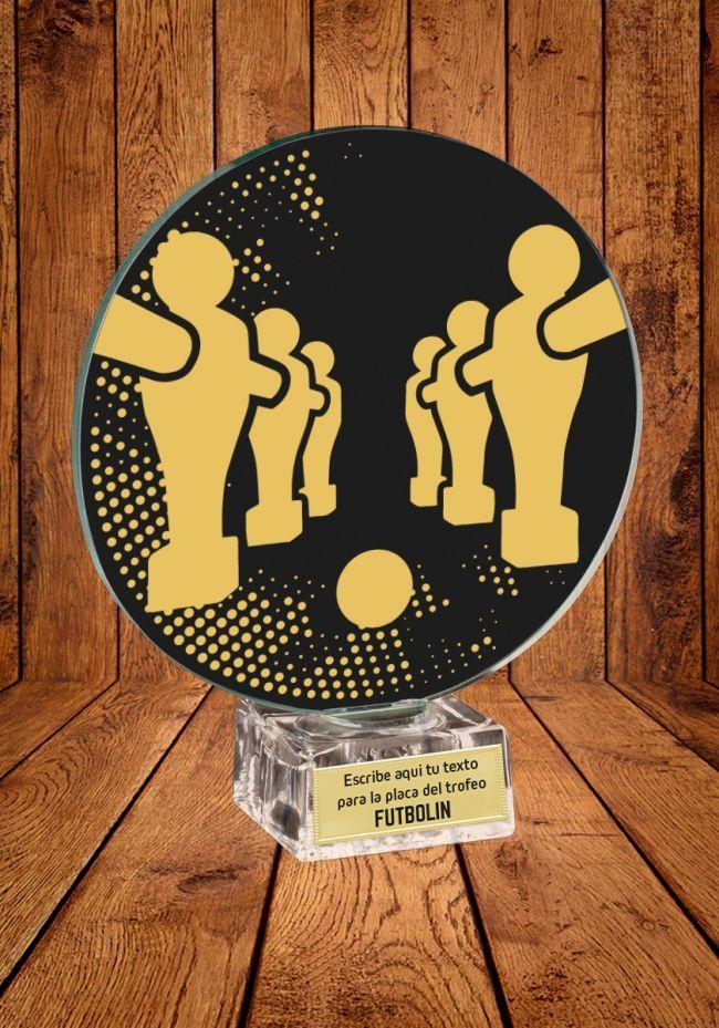 Trofeo de cristal para Futbolín
