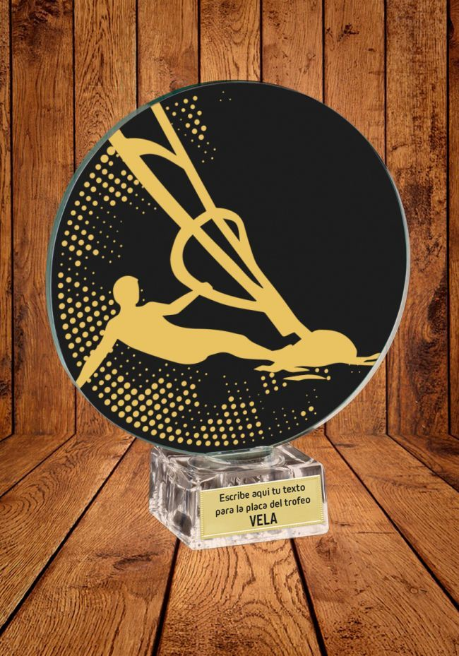 Trofeo de cristal para Vela