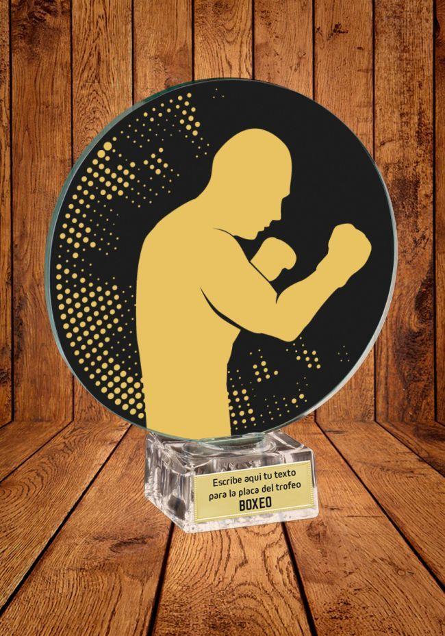 Trofeo de cristal para Boxeo
