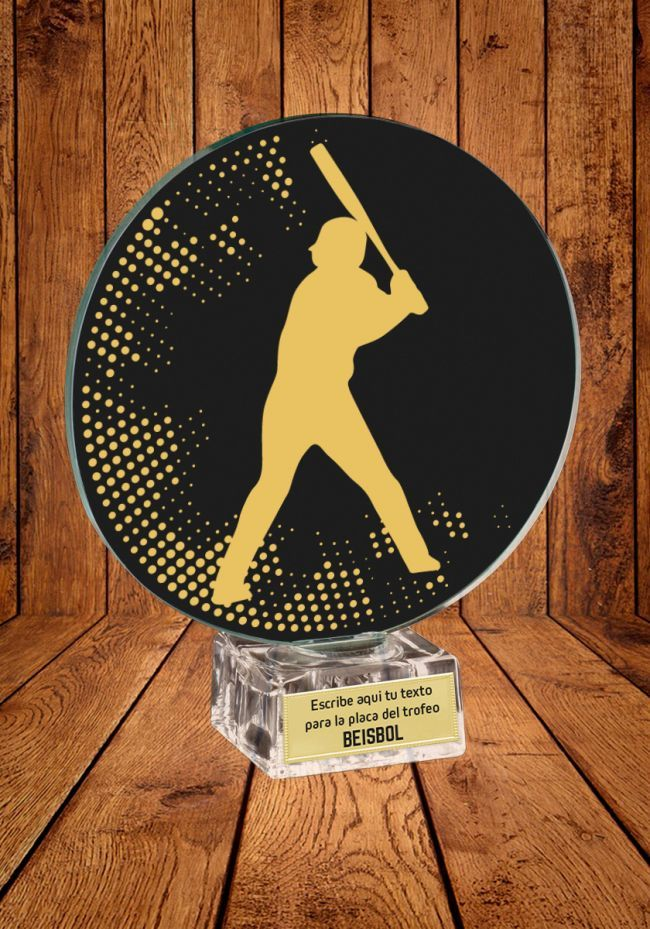 Trofeo de cristal para Beisbol