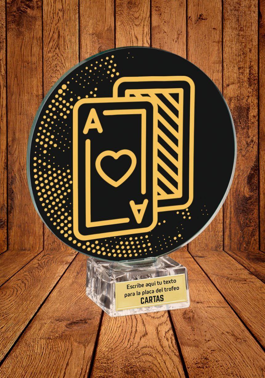 Trofeo de cristal para Cartas