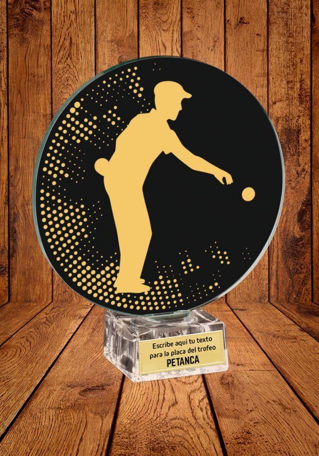 Trofeo de cristal para Petanca