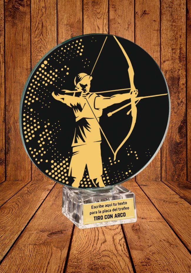 Trofeo de cristal para Tiro con Arco