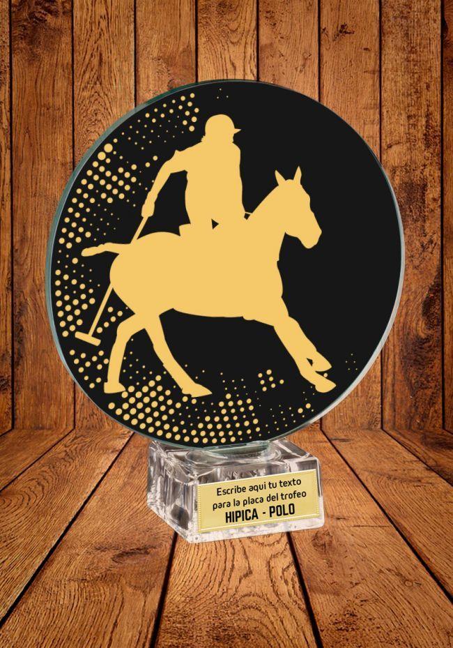 Trofeo de cristal para Polo