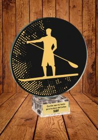 Trofeo de cristal para Paddle Surf