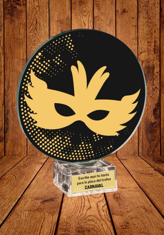 Trofeo de cristal para Carnaval