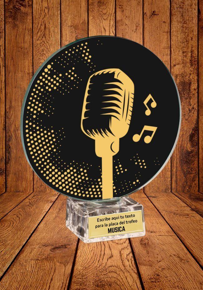 Trofeo de cristal para Música