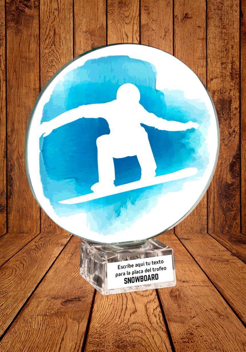 Trofeo de cristal para Snowboard