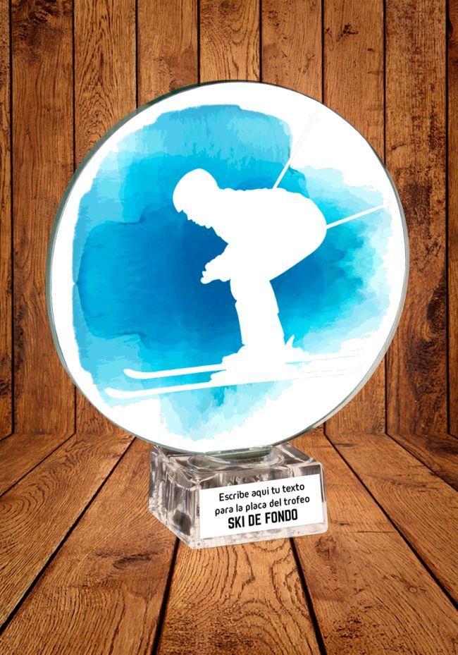 Trofeo de cristal para Ski de fondo