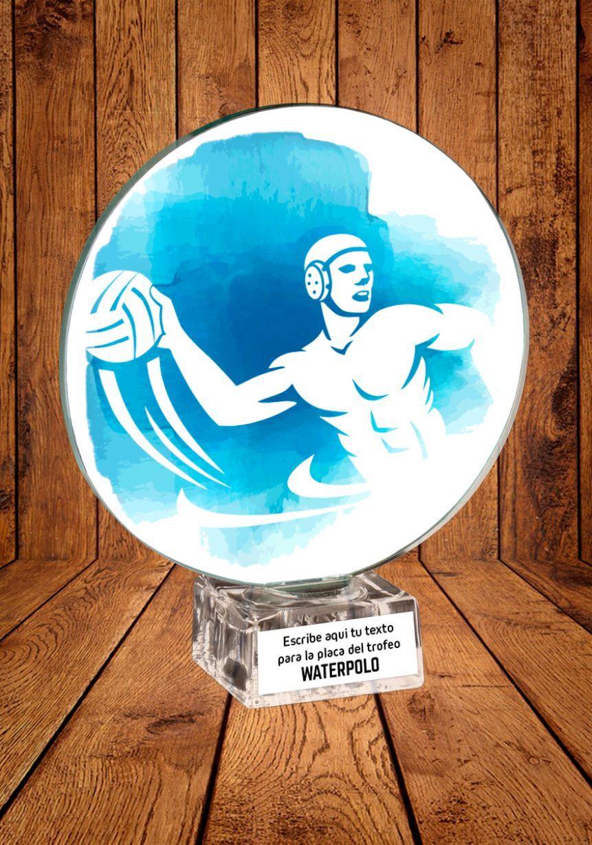 Trofeo de cristal para Waterpolo