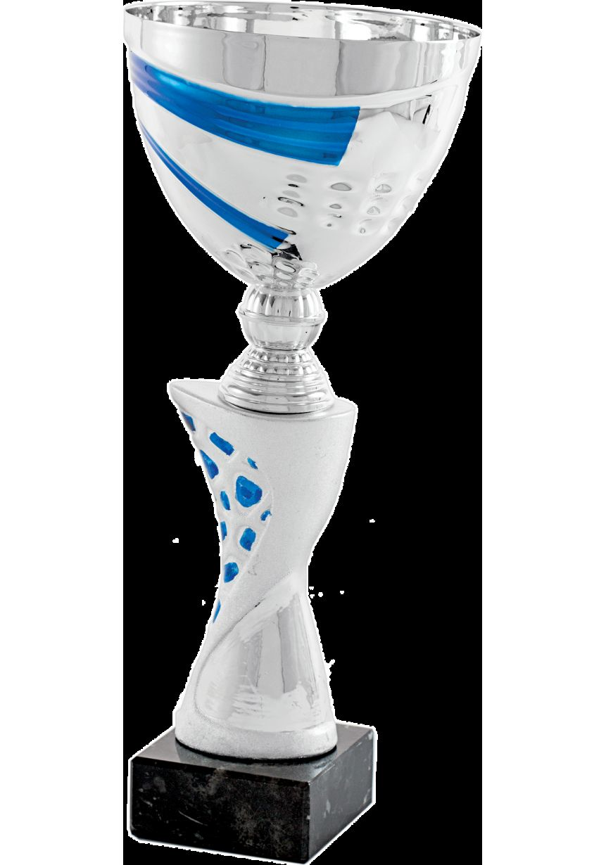 Copa Columna Óvalos Azul