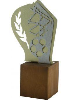 Trofeo de Fútbol en Metal/Madera Thumb