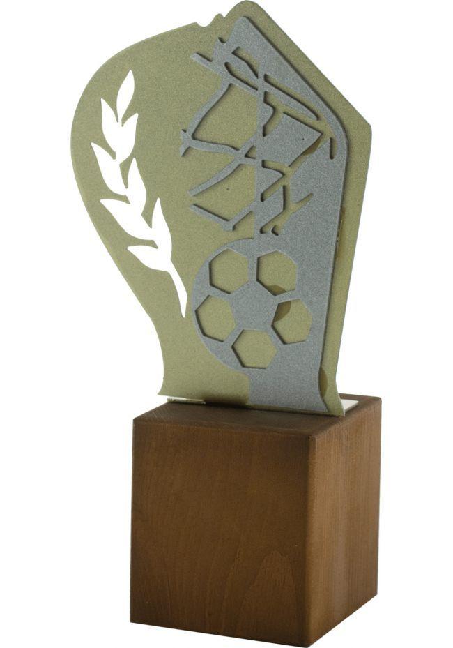 Trofeo de Fútbol en Metal/Madera