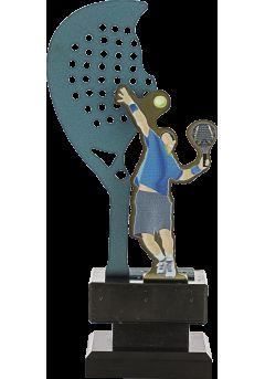 Trofeo Metal Raqueta y Jugador Pádel