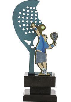 Trofeo Metal Raqueta y Jugador Pádel Thumb