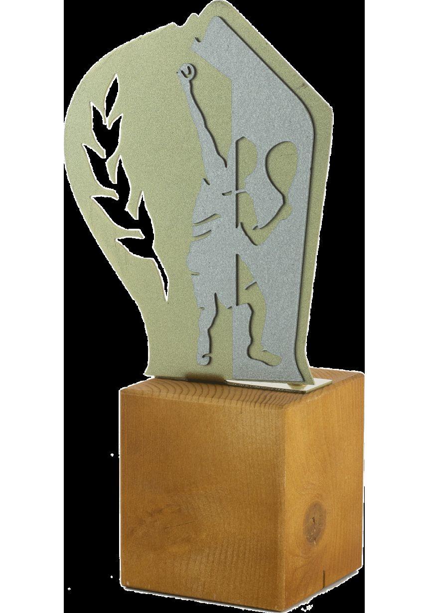 Trofeo de Pádel en Metal/Madera