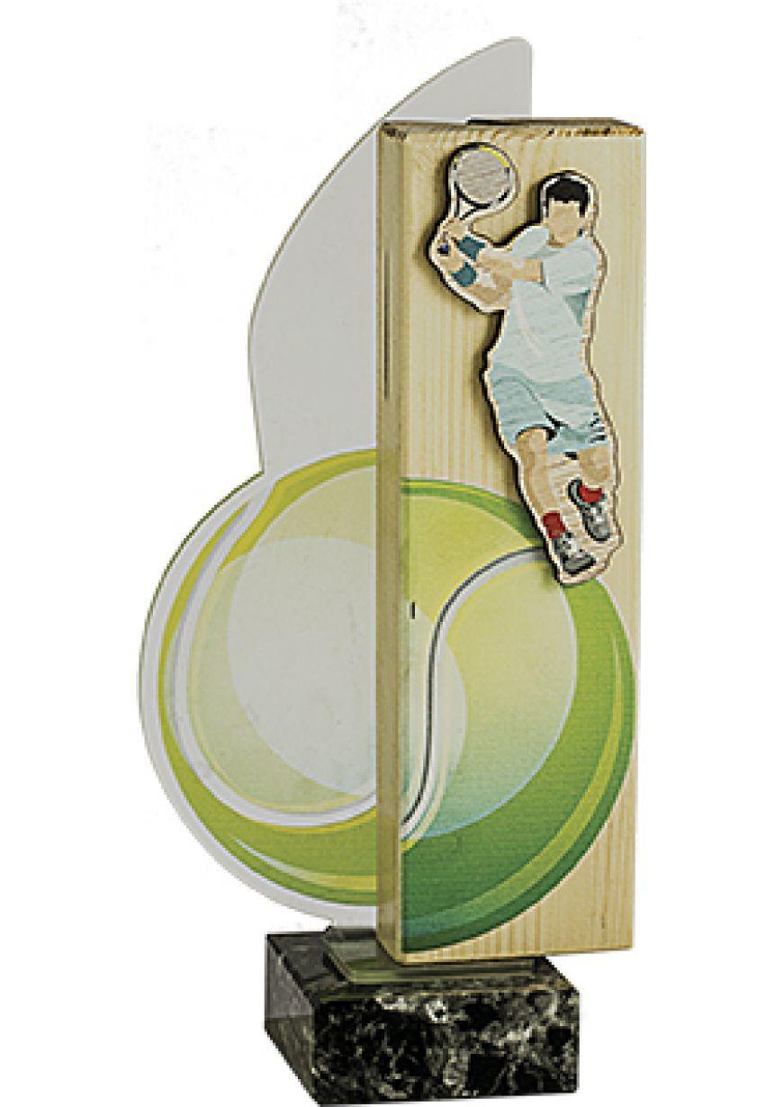Trofeo Tenis Madera-Pvc