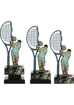 Trofeo Metal Raqueta y Jugador Tenis Thumb